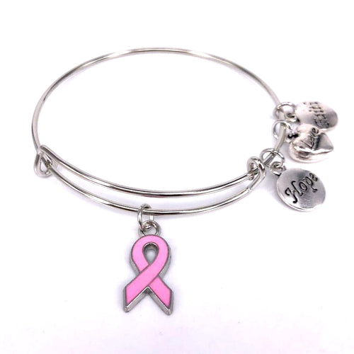 Breast Cancer Charm Bracelet - You-Inspire.Us