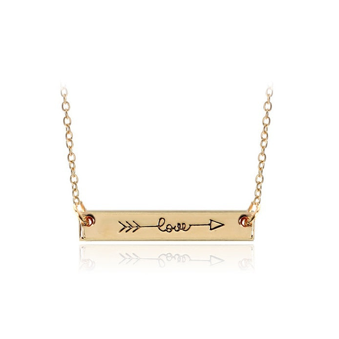Love Arrow Bar Necklace - You-Inspire.Us