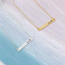 "Load image into Gallery viewer, ""Be Still"" Inspirational Bar Necklace - You-Inspire.Us"