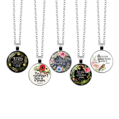 Christian Bible Verse Pendant Necklaces - You-Inspire.Us