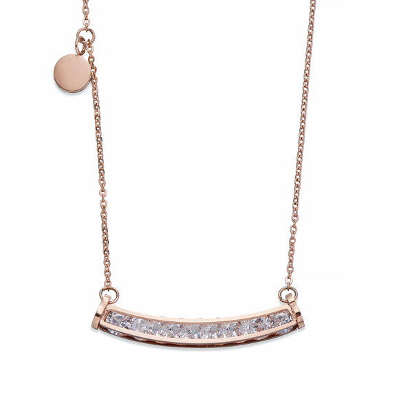 Rose Gold Bar Pendant Necklace | ${Vendor}