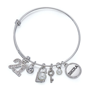 21 Charm Bangle in Silver | ${Vendor}