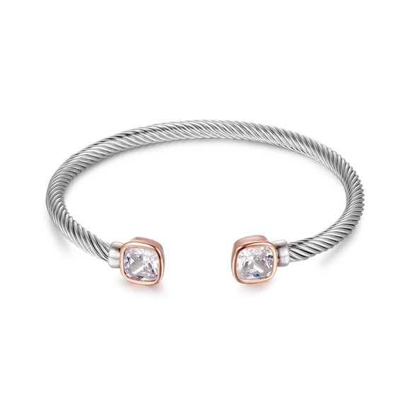 ROSE GOLD & SILVER BANGLE | ${Vendor}