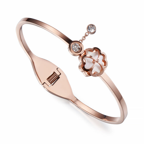 Rose Gold Hinge Bangle | ${Vendor}