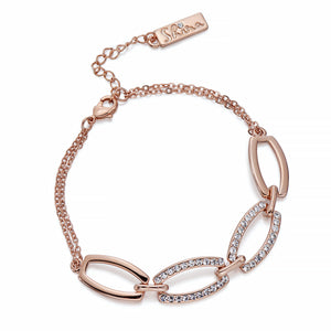 Rose Gold & Crystal Bracelet | ${Vendor}