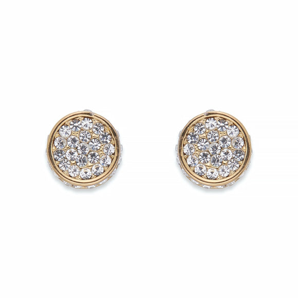 Crystal & Gold Stud Earrings | ${Vendor}