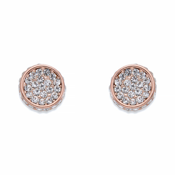 Crystal & Rose Gold Stud Earrings | ${Vendor}
