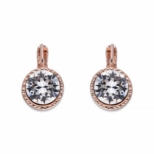 Crystal & Rose Gold Earrings | ${Vendor}