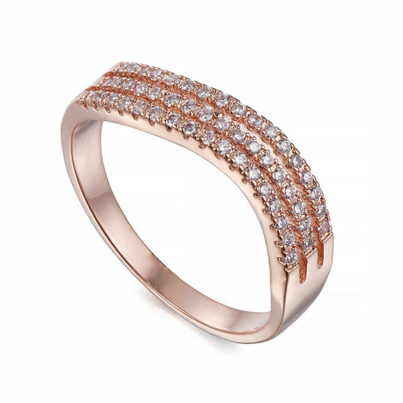 Rose Gold Ring With Crystals | ${Vendor}
