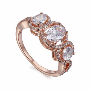 Rose Gold & Crystals Ring | ${Vendor}