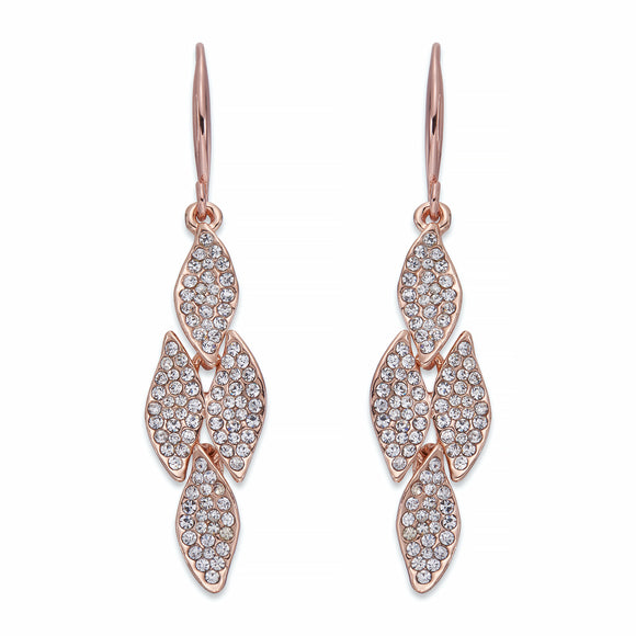 Crystals on Rose Gold Earrings | ${Vendor}