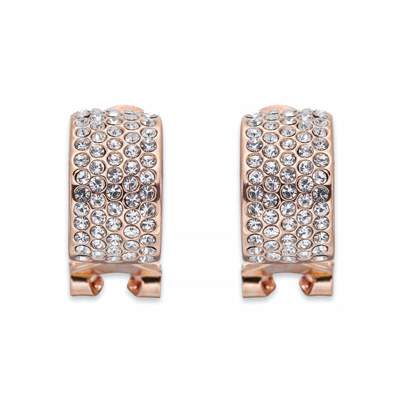 Crystal encrusted Rose Gold Earrings | ${Vendor}