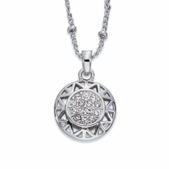 Silver Pendant Necklace With Crystals | ${Vendor}