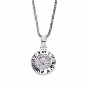 Silver Pendant Necklace With Clockface | ${Vendor}