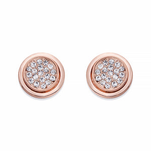 Rose Gold Stud Earrings with Crystals | ${Vendor}