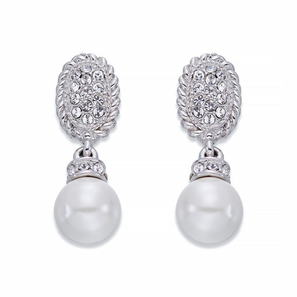 Pearl and Crystal Earrings | ${Vendor}