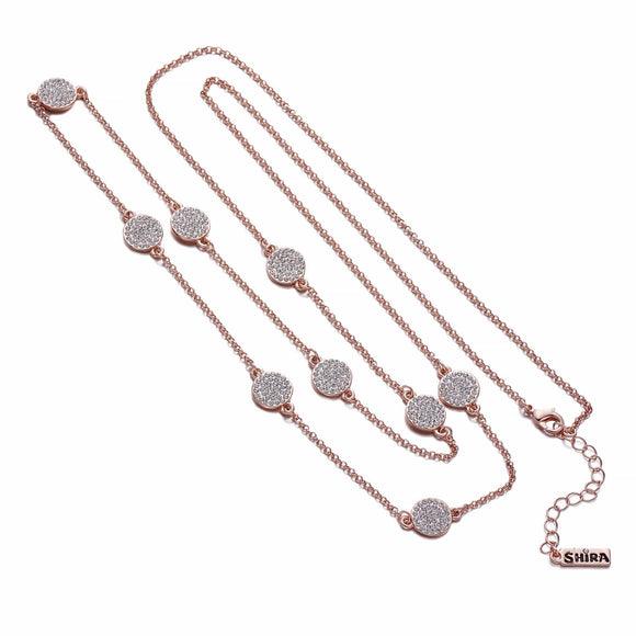 Rose Gold Chain Necklace With Inset Charms | ${Vendor}