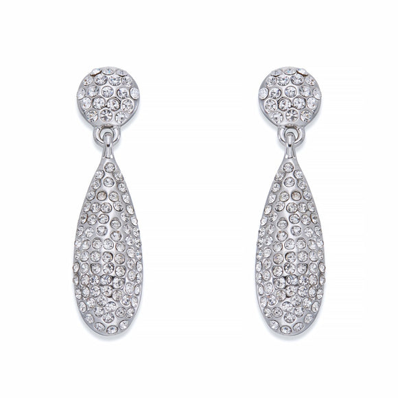 Crystal Encrusted Teardrop Earrings | ${Vendor}