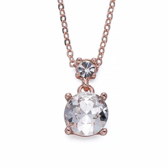 Crystal on Rose Gold Pendant Necklace | ${Vendor}