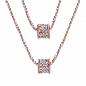 Two Tier Rose Gold Necklace | ${Vendor}