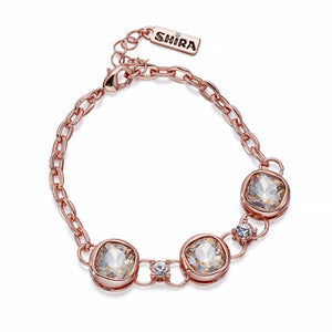 Golden Crystals on Rose Gold Bracelet | ${Vendor}