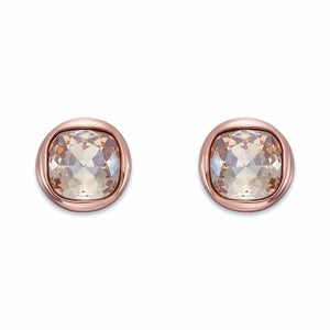 Golden Crystal Stud Earrings | ${Vendor}