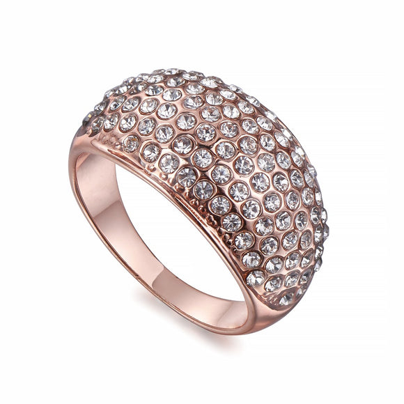 Crystal Encrusted Rose Gold Ring