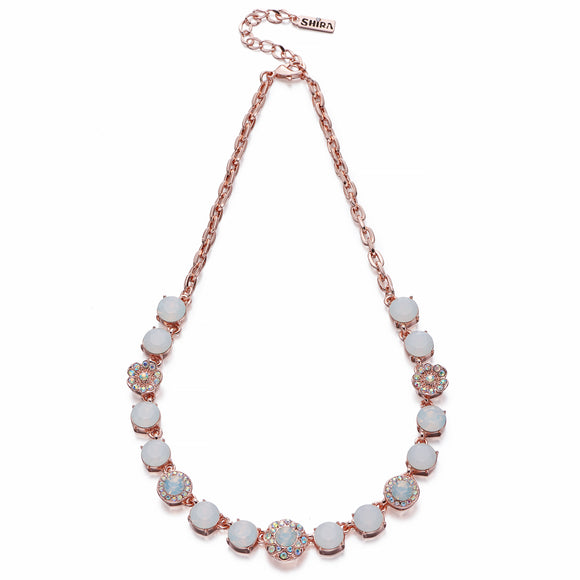 Opals & Crystals AB on Rose Gold Necklace | ${Vendor}