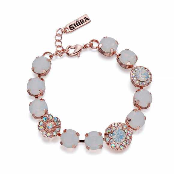 Opals & Crystals AB on Rose Gold Bracelet | ${Vendor}