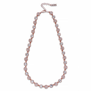 Crystals on Rose Gold Chain Necklace | ${Vendor}