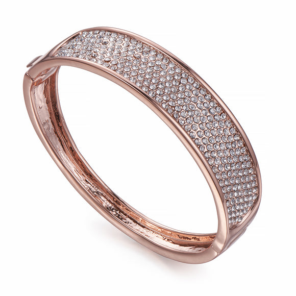 Crystal Encrusted Rose Gold Bangle | ${Vendor}
