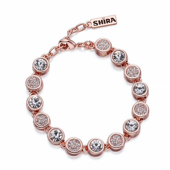 Crystals on Rose Gold Bracelet | ${Vendor}