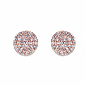 Rose Gold & Crystals Stud Earrings | ${Vendor}