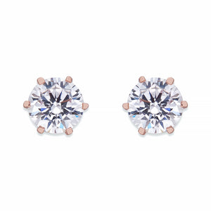Crystal Stud Earrings On Rose Gold | ${Vendor}