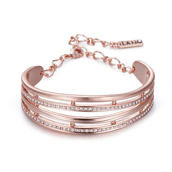 Rose  Gold Bracelet with Crystals | ${Vendor}