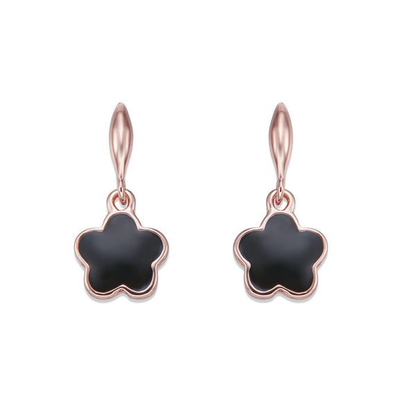 Black on Rose Gold Earrings | ${Vendor}
