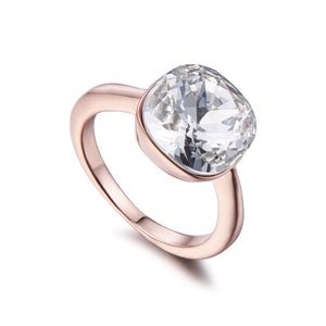 Crystal on Rose Gold Ring | ${Vendor}