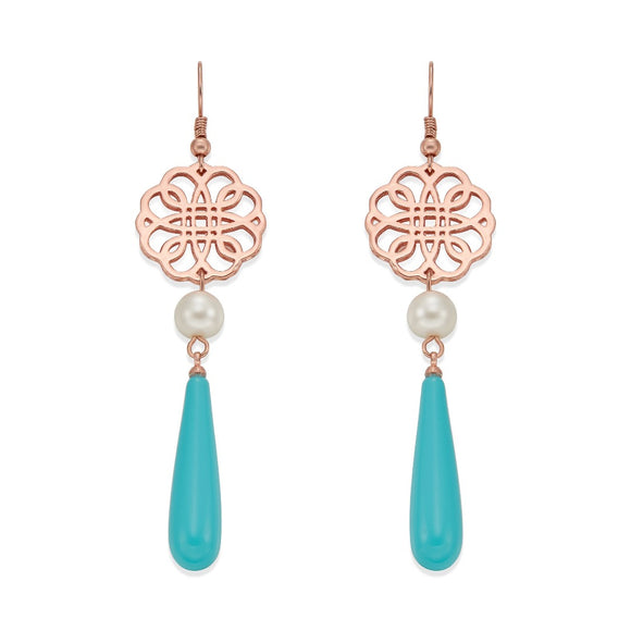 ROSE TURQUOISE EARRINGS | ${Vendor}