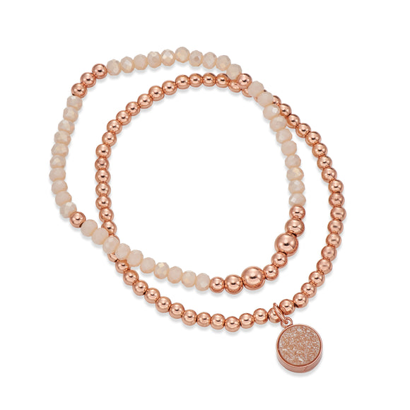 CREAM AND ROSE GOLD BANGLE | ${Vendor}