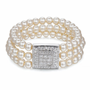 Pearls & Crystals Bracelet | ${Vendor}