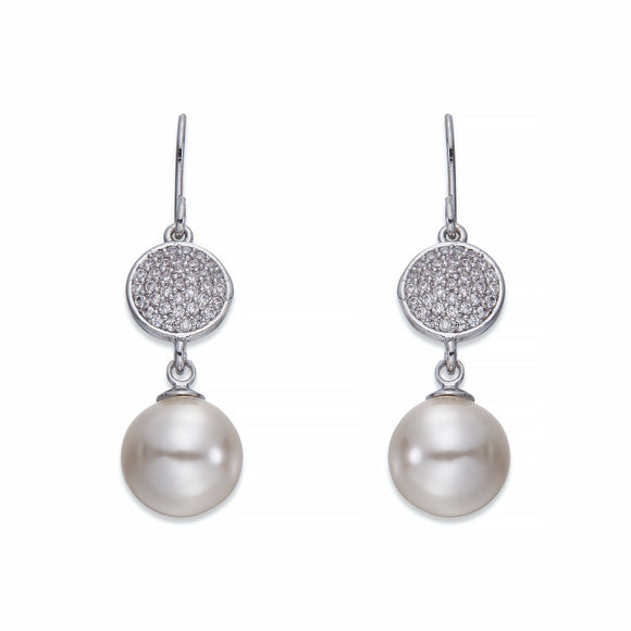 Pearls and Silver Dangle Earrings | ${Vendor}