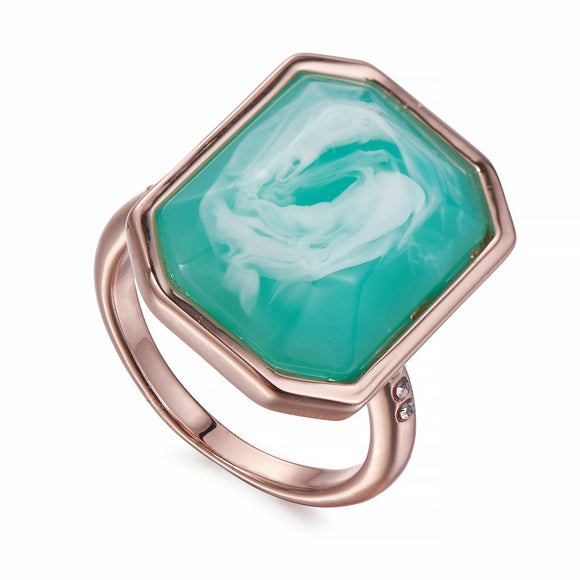 Turquoise and Rose Gold Ring | ${Vendor}