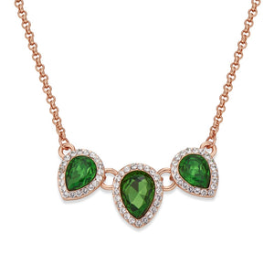 GREEN CRYSTAL NECKLACE | ${Vendor}