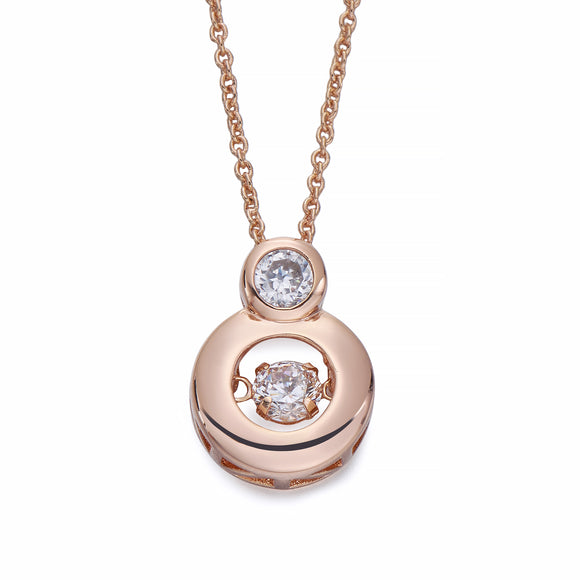 Rose Gold Pendant Necklace with Crystals | ${Vendor}