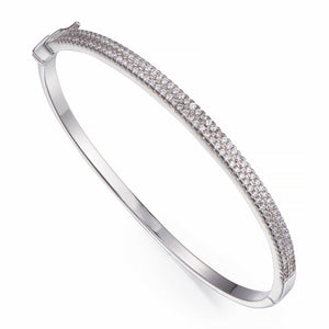 Silver Bangle with Crystals | ${Vendor}