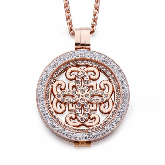 Rose Gold Coin Pendant Necklace | Shira Designer Jewellery