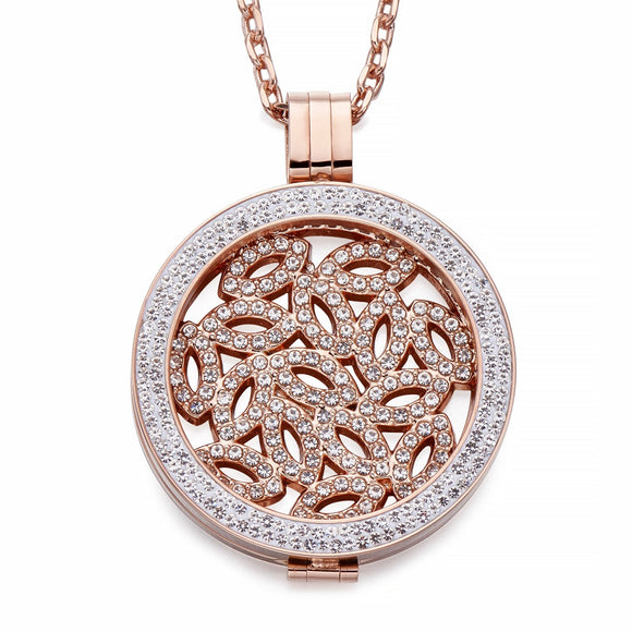 Rose Gold Coin Pendant Necklace