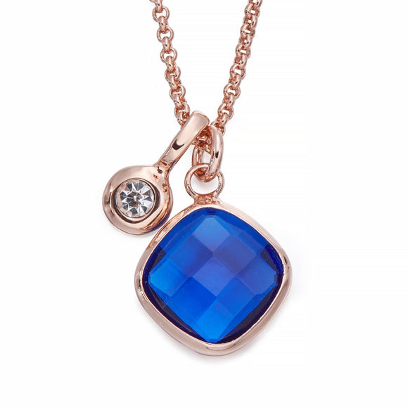 Blue Stone Pendant Necklace | ${Vendor}