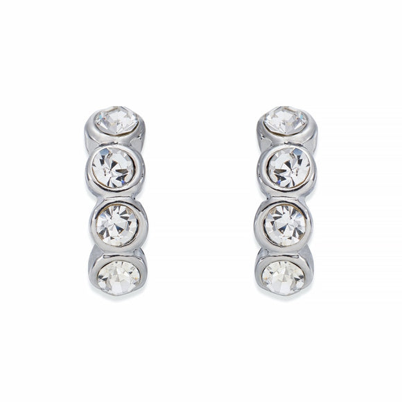 Multi Crystal Silver Earrings | ${Vendor}