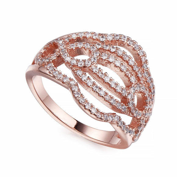 Rose Gold & Crystal Ring
